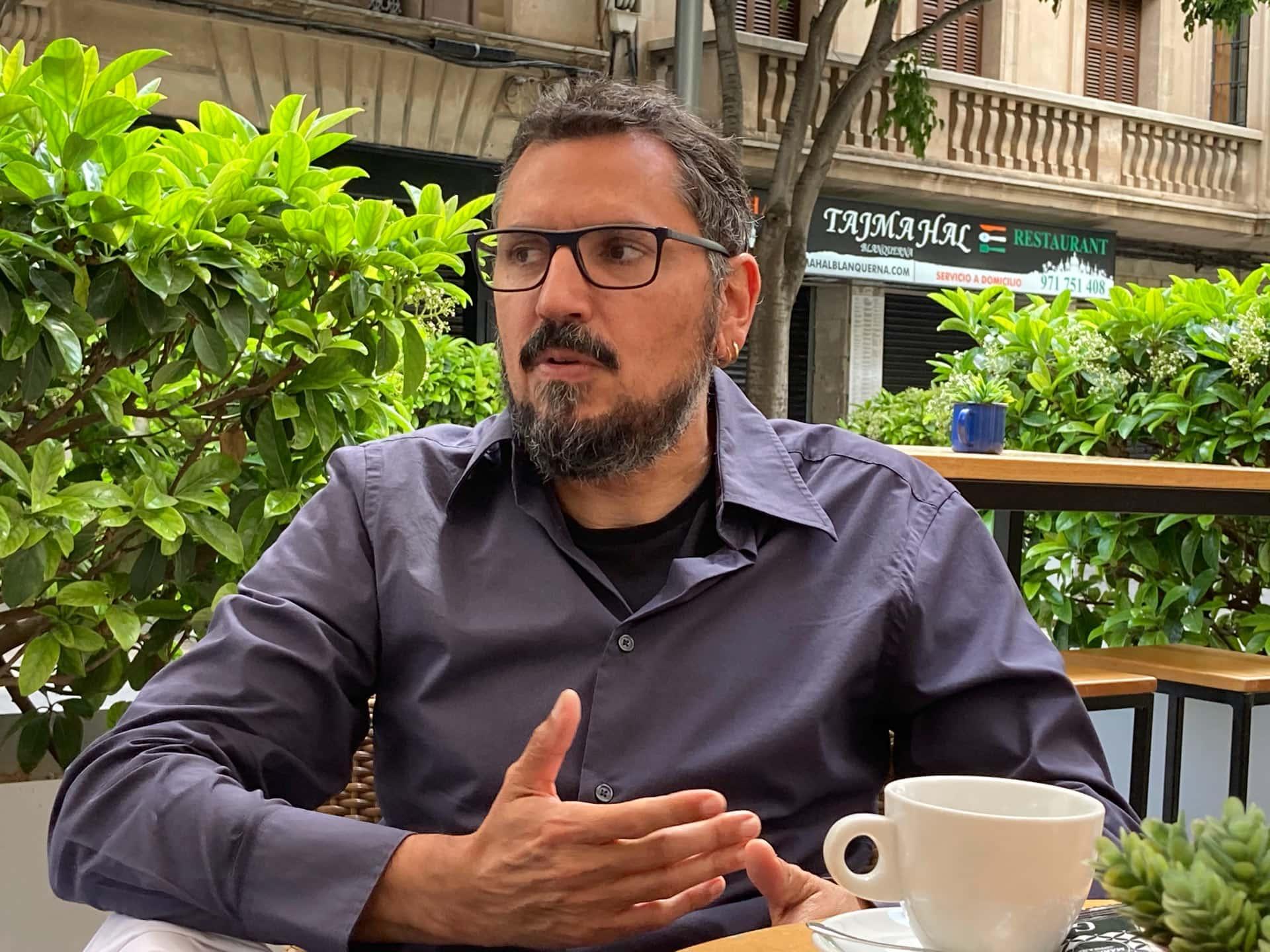 José Cortés, presidente de ASCAIB, en un momento de la entrevista
