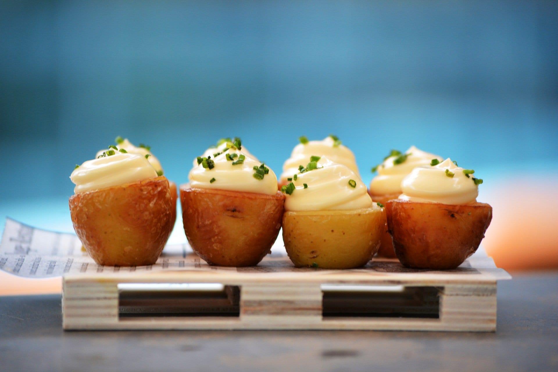 Receta de patatasasadasconcrema de queso