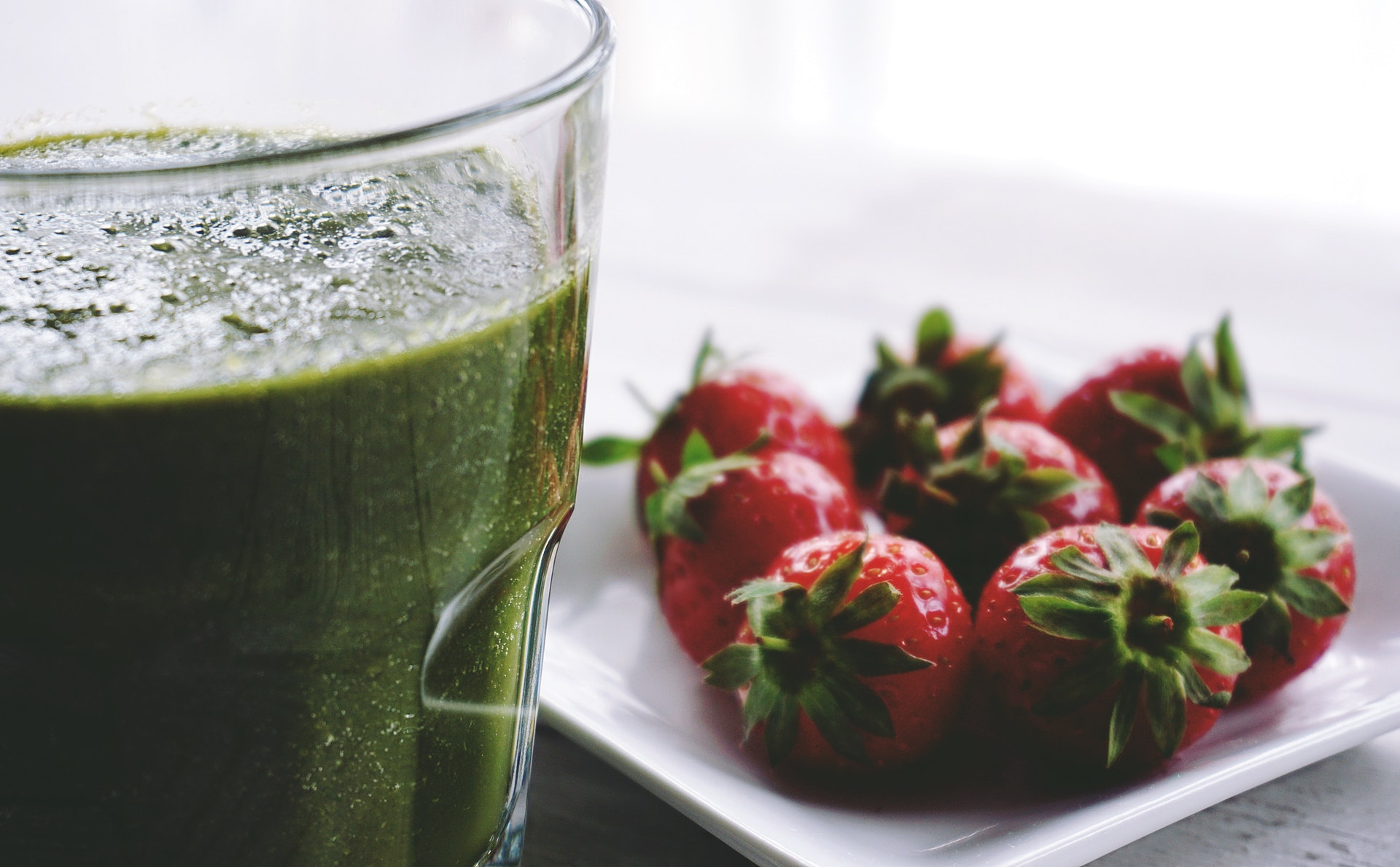 Green smoothies with olive oil