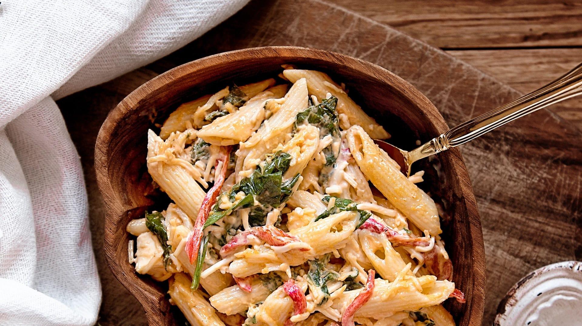 pasta salad with tzatziki sauce